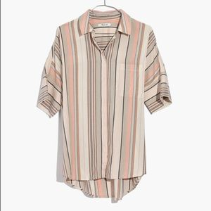 Madewell Courier Shirt In Aldwin Stripe